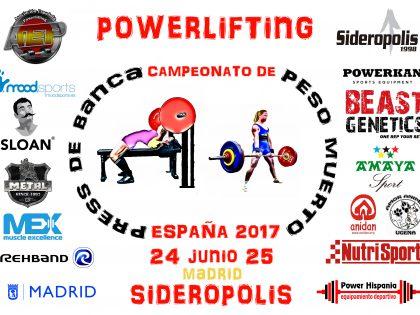 Cuenta atrás para el Campeonato de España de Press de Banca y Peso Muerto