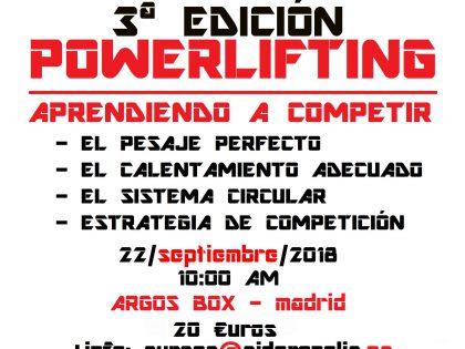 Últimas días para apuntarte al curso de 'Powerlifting aprendiendo a competir'