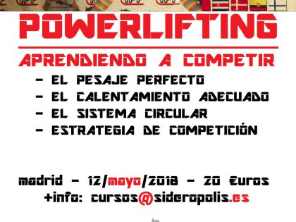 Curso Powerlifting Competición